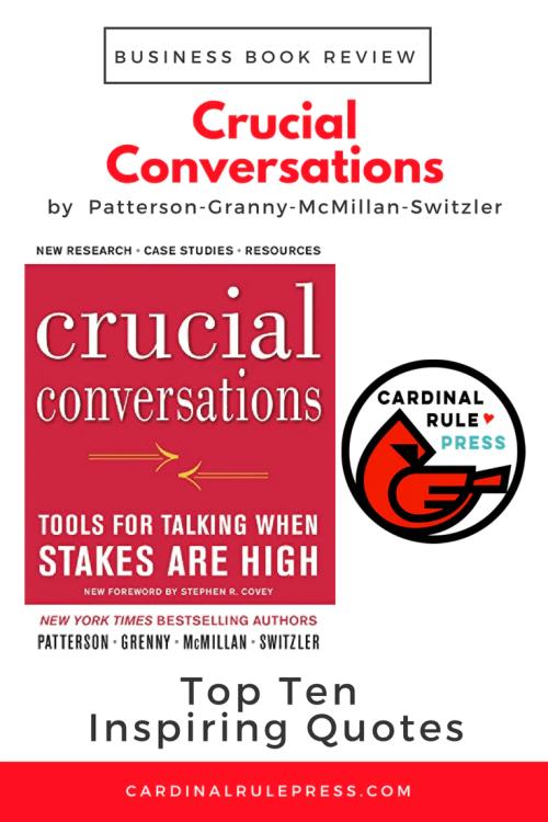 Business Book Review-Crucial Conversations - mariadismondy.com