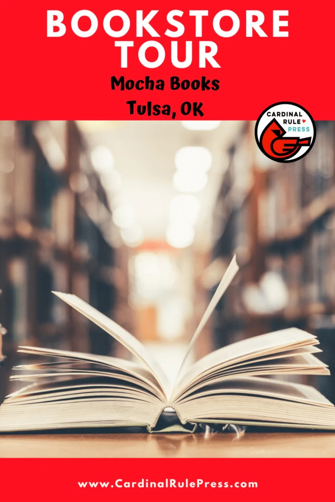 Bookstore Tour: Mocha Books in Tulsa, OK-We got to take an inside look into these creative spaces that house our favorite things---books and books and readers! #Bookstore #BookstoreTour #SummerTour