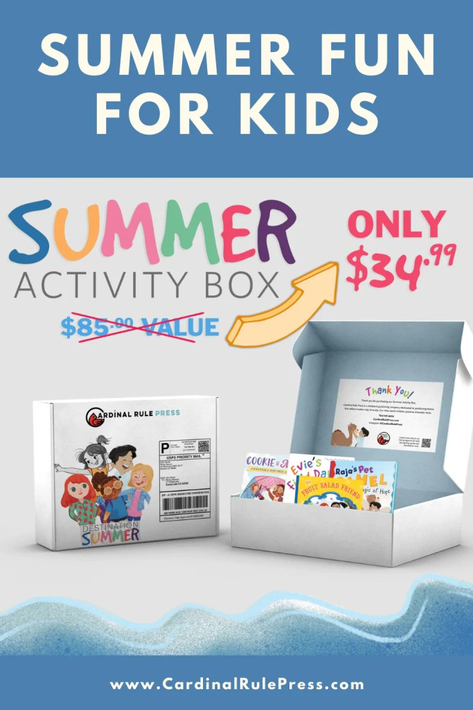 Summer Fun for Kids. Keep the learning and emotional growth going throughout summer! Purchase here: https://gum.co/wOoKe while supplies last. #Summer #PictureBooks #SummerReading