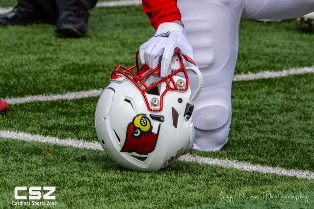 Cardinal Football Helmet