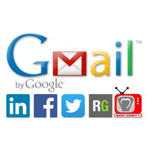 Iconos redes sociales firma Gmail