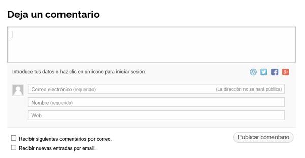 Zona comentarios web