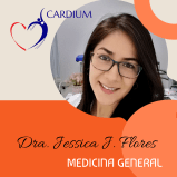 Dra. Jessica Flores, medicina general en CARDIUM - Playas.