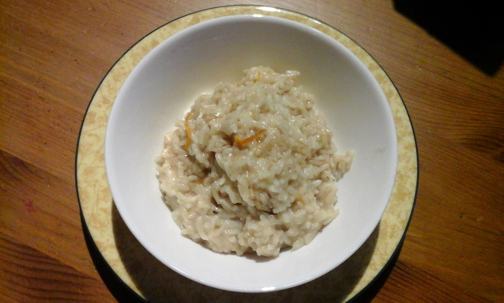 Coconut orange rice pudding recipe