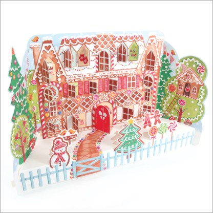 Gingerbread House advent calendar with stand up pieces and a door to open every day. Code ADV30 traditional advent calendar