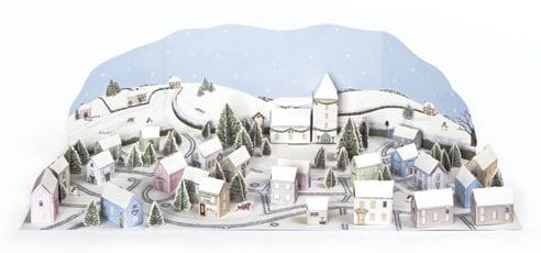 Phoenix Trading snowy village advent calendar
