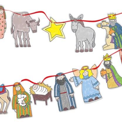 Nativity Crafts bunting Phoenix Trading