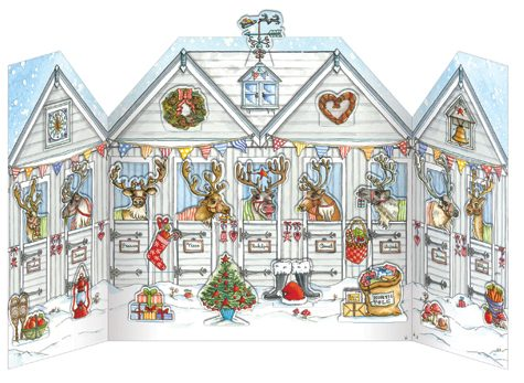 Reindeer Stables Advent Calendar xadv03