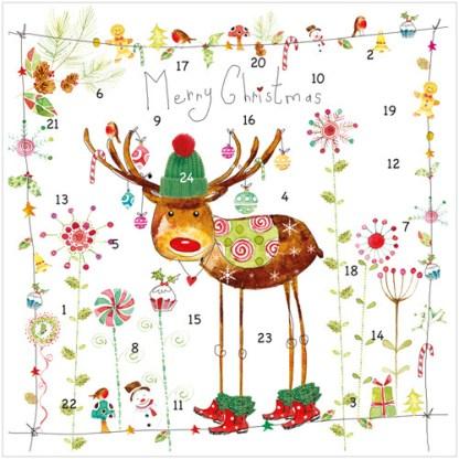 Rudolph advent calendar card XAC05