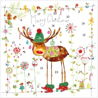 Rudolph advent calendar card XAC05