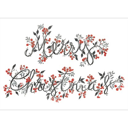 Merry Christmas Berries Christmas cards