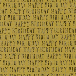 happy birthday kraft gift wrap