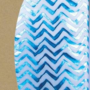 zig zag turquoise tissue