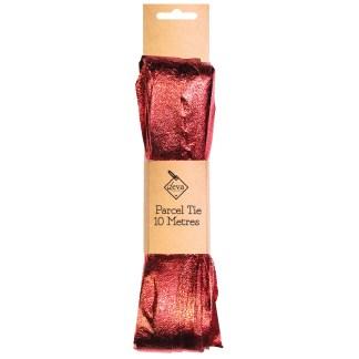 Parcel tie foil red