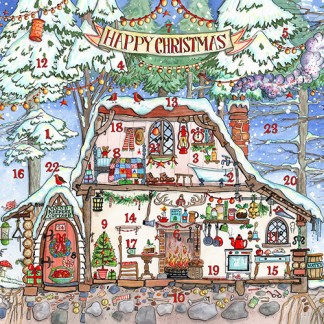 Woodmans house advent calendar card