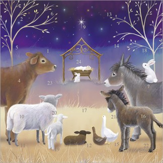 Away in a Manger Advent Calendar