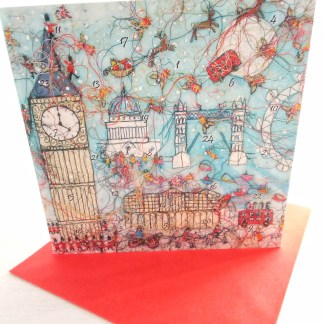 London Landmarks Advent Calendar Card