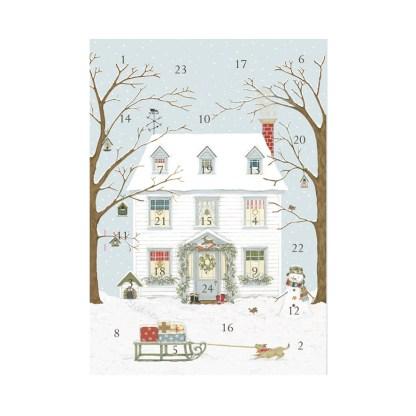 Christmas house advent calendar card
