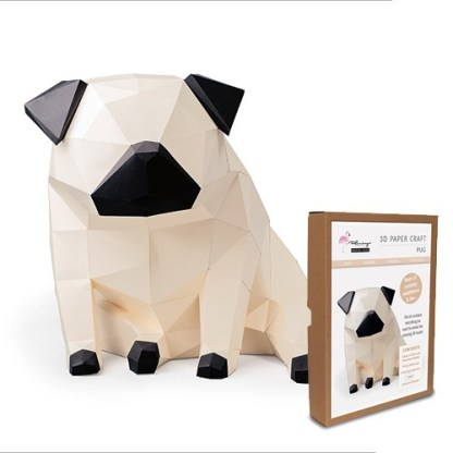 pug papercraft kit