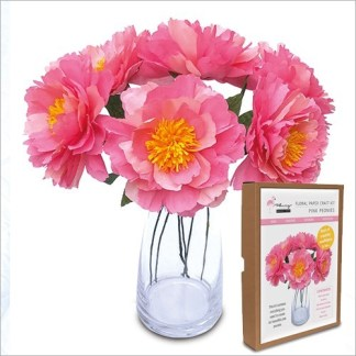 Peonies papercraft kit