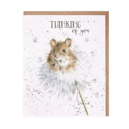 'Dandelion' mouse thinking of you card