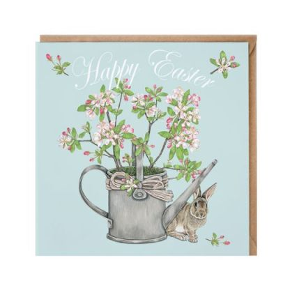 'Happy Easter' rabbit card