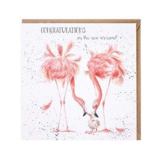 New Arrival Flamingo card