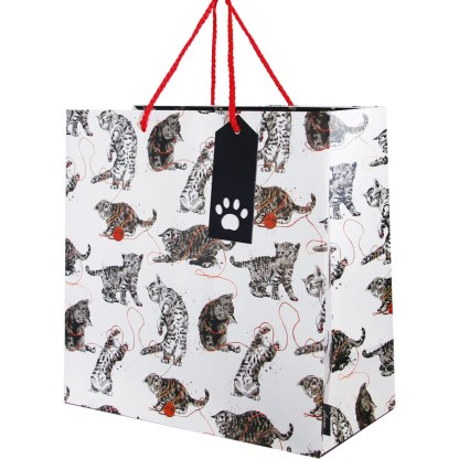 Cats large gift bag