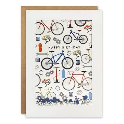 Happy Birthday Cycling Shakies Card