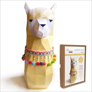 llama papercraft kit