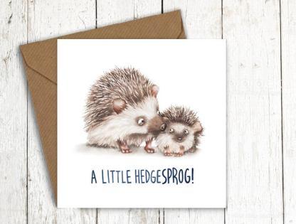 Hedgesprog baby hedgehog card