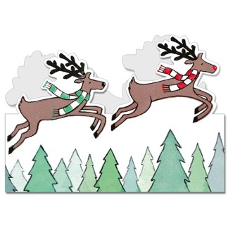 Flying Reindeer Christmas cards