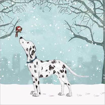 Dalmatian in the Snow Christmas Cards