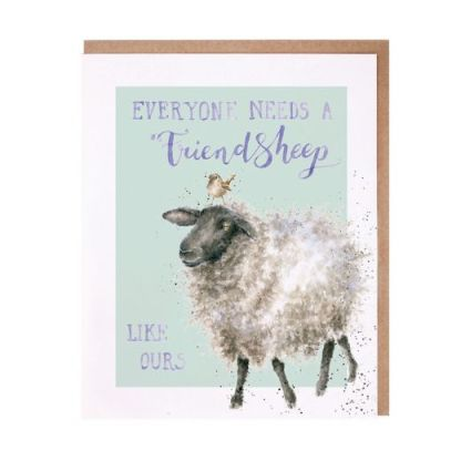 Everyone needs a friend sheep card