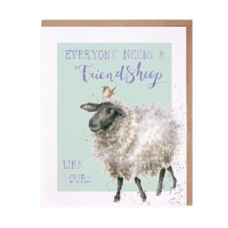 Everyone needs a friend sheep card