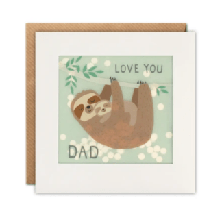 Love you dad sloth card