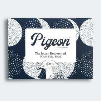 Moonlight pigeon folded letters