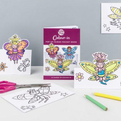 Colour in Fairies Cards