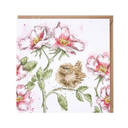 The Rose Garden Wren card