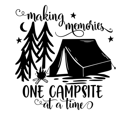 Campsite memories stickers