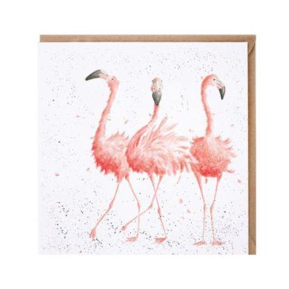 Pink Ladies flamingo card