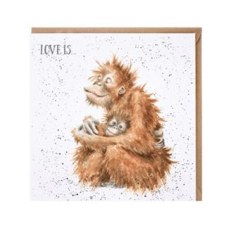Love is orangutan card