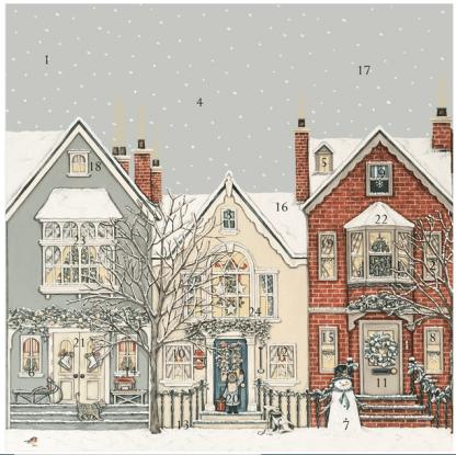 Snowy Street Advent Calendar