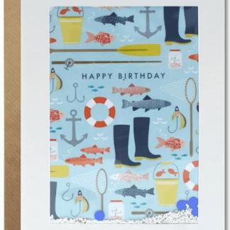Happy Birthday Fishing shakies Card
