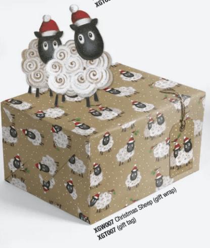 Christmas Sheep gift wrap