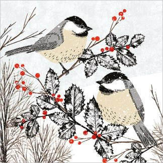 Birds in the Snow Christmas Cards