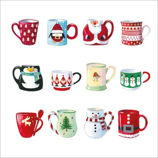 12 Christmas Mugs Christmas Cards