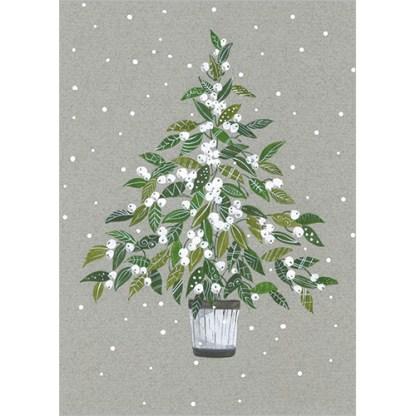 Mistletoe Tree Christmas Cards