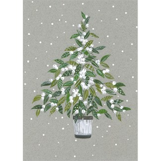 Mistletoe Tree Christmas Cards