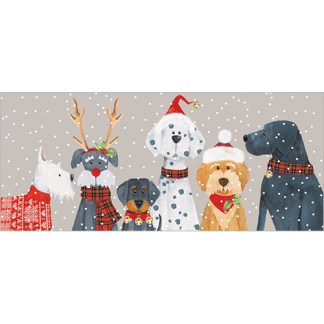 Dog Line Up Christmas Cards